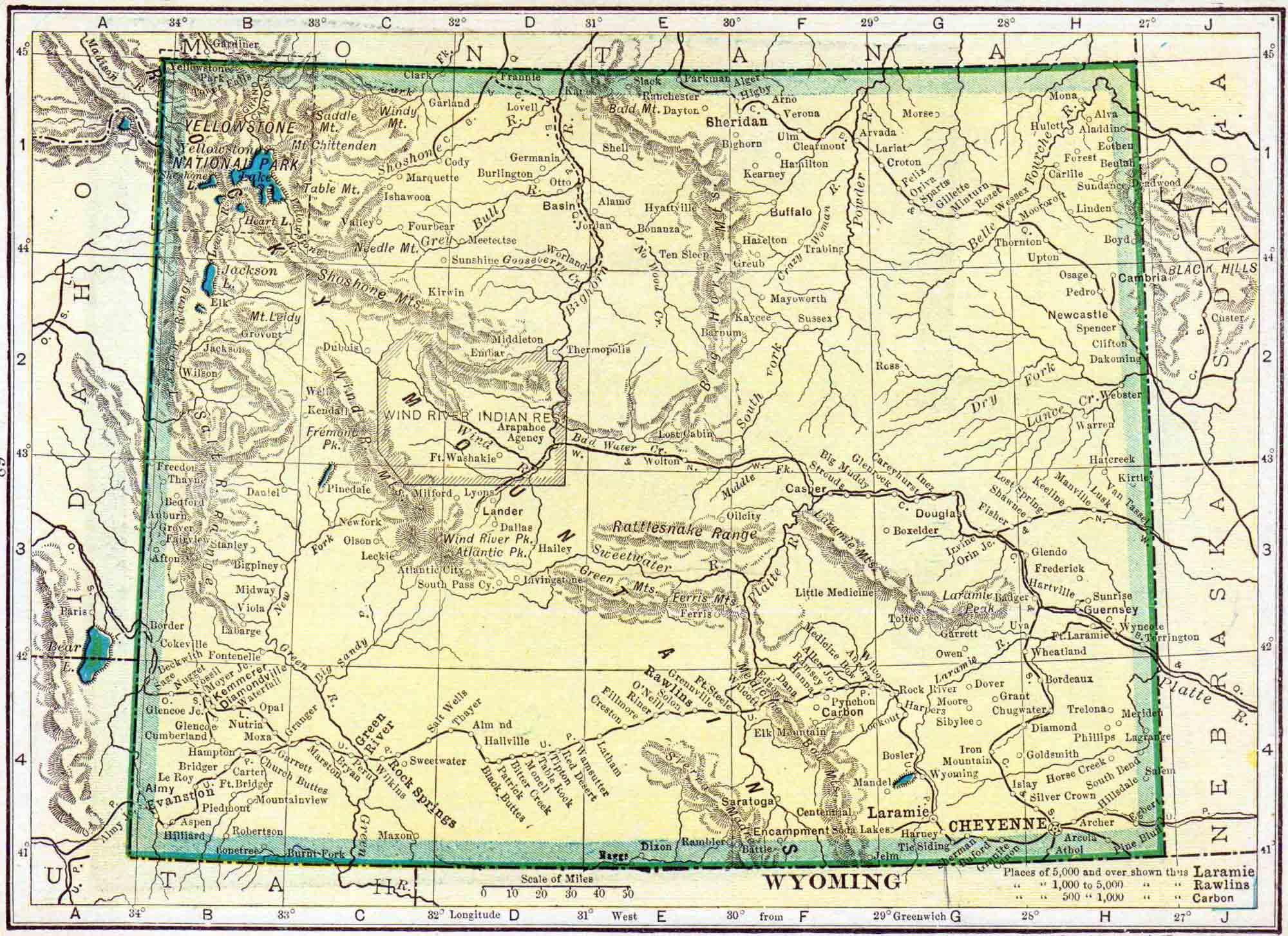 Wyoming Census Map Access Genealogy - Wyoming map