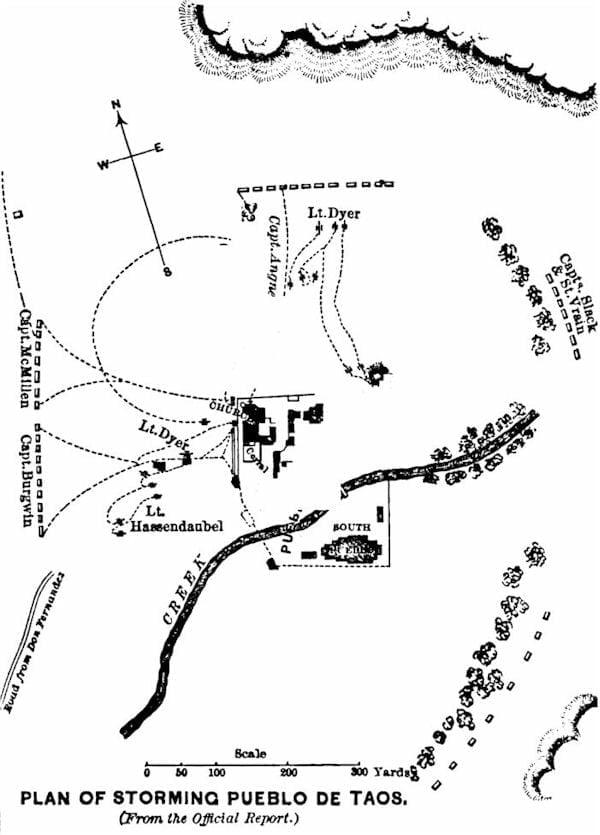 Plan of storming Pueblo de Taos