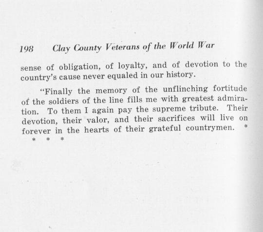 Clay County Kansas Veterans of World War 1