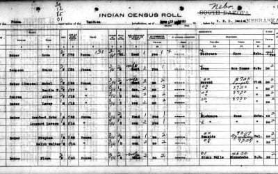 1930 Ponca Census Extraction
