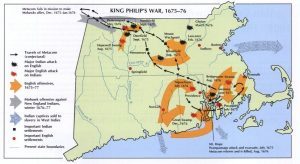 King Philips War Map