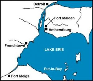 Location of Frenchtown in War of 1812