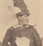 Paul Miles, Pamunkey, in dance costume.