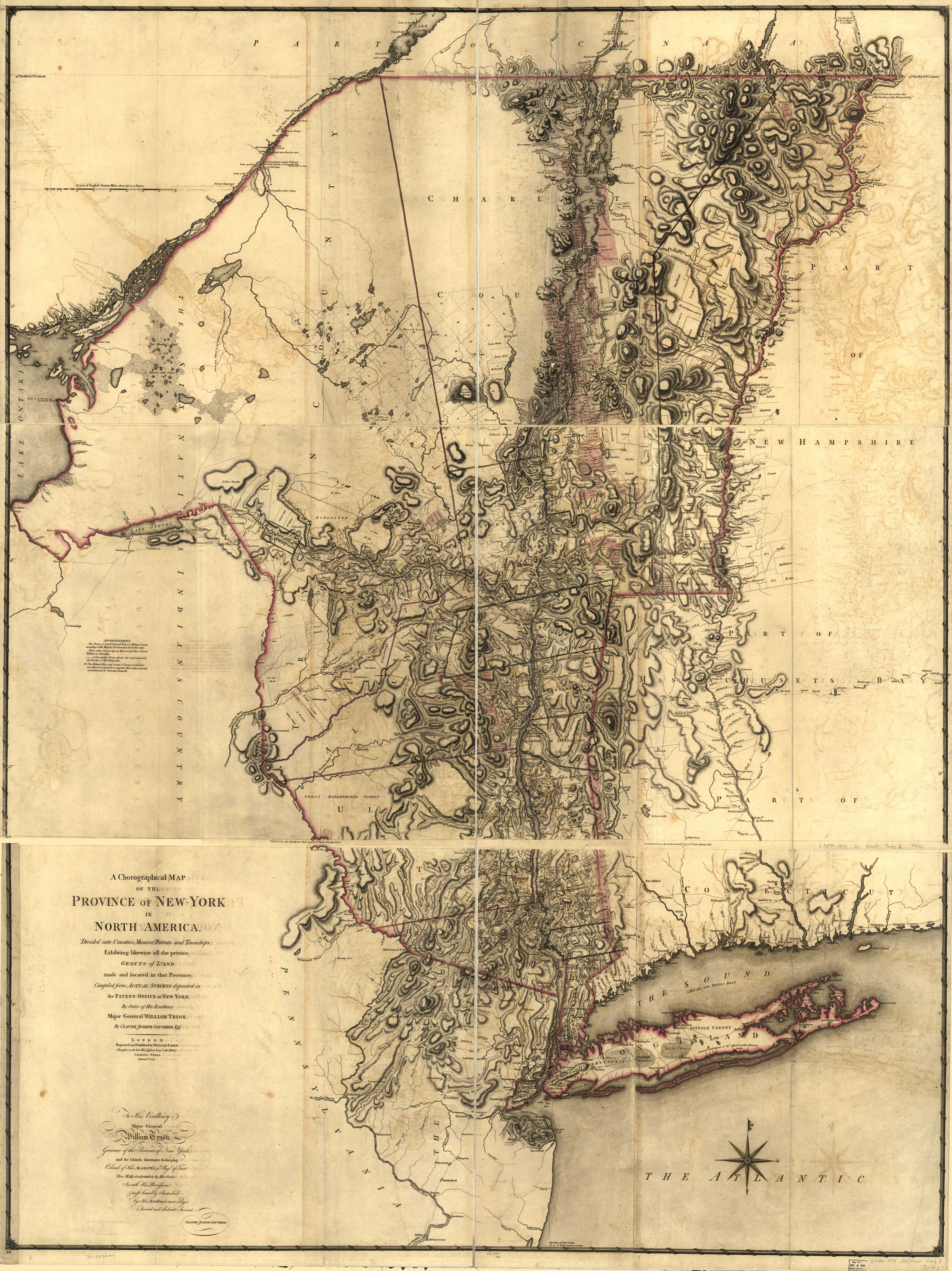 1779 Sauthier Map of New York
