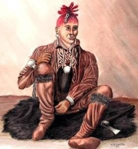 An Artists rendition of James Smith