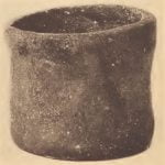 Pamunkey cylindrical pottery jar.