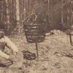 """Chickahominy boy with """"sora horses"""" of iron"""