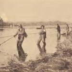 Chickahominy fishermen hauling a shad seine.