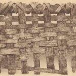 Fragment of large Pamunkey fish basket.