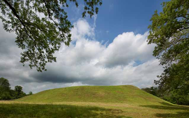 Indian Mounds in Natchez, Mississippi