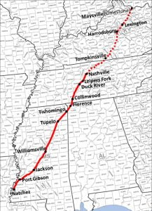 Natchez Trace Map