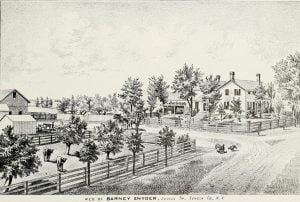 Residence of Barney Snyder, Junius Township