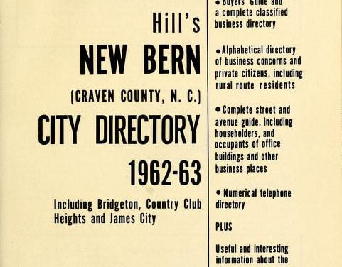 New Bern North Carolina City Directories