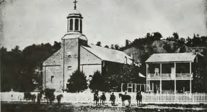 St. Joseph's Church and Rectory as originally built in 1858 and 1868 respectively