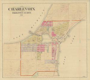 1901 Charlevoix Michigan Plat Map