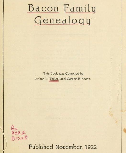 Ralph Bacon Genealogy