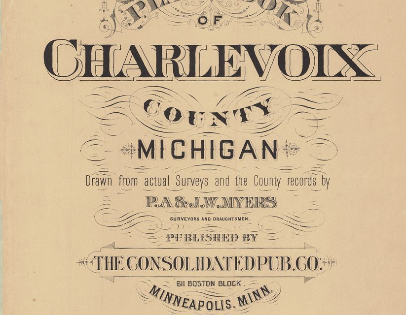 1901 Charlevoix County MI Plat Book