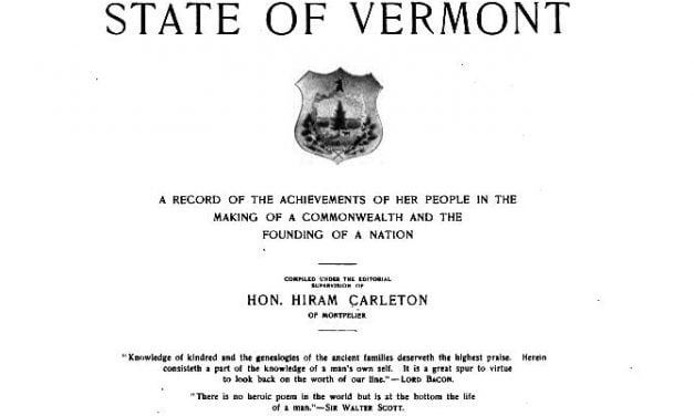 Genealogical and Family History of Vermont