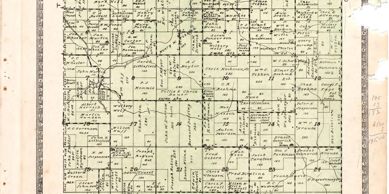 1921 Farmers Directory of Audubon Iowa
