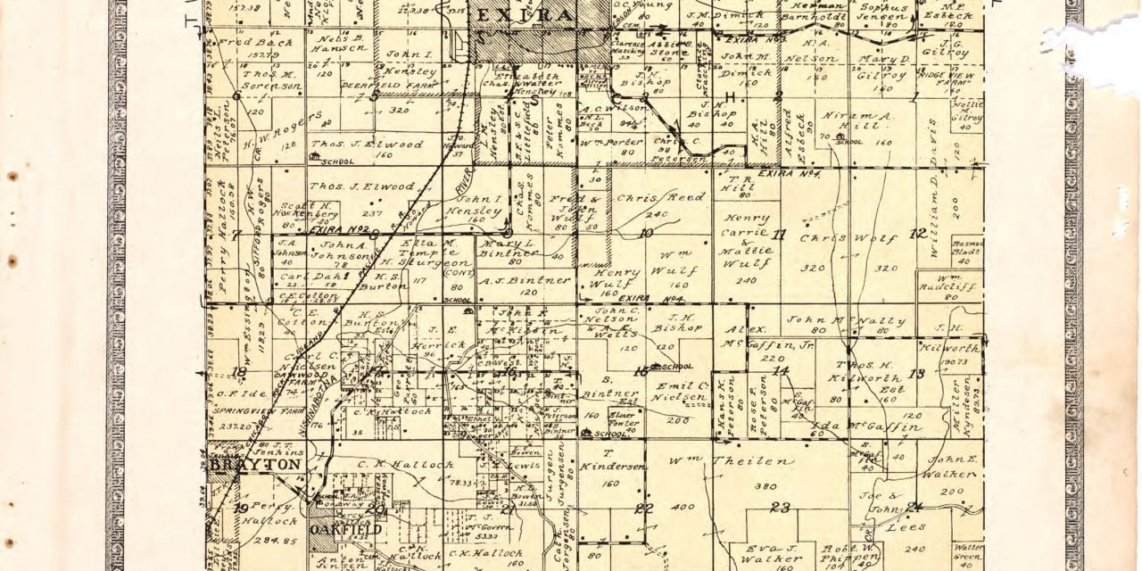 1921 Farmers' Directory of Exira Iowa