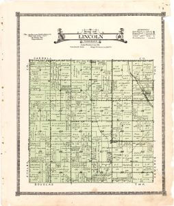 1921 Farm Map of Lincoln Township, Audubon County, Iowa