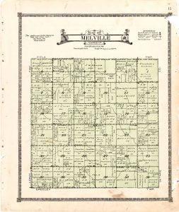 1921 Farm Map of Melville Township, Audubon County, Iowa