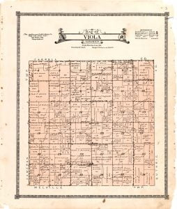 1921 Farm Map of Viola Township, Audubon County, Iowa