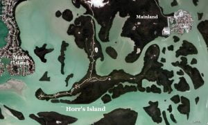 Satellite view of Horrs Island