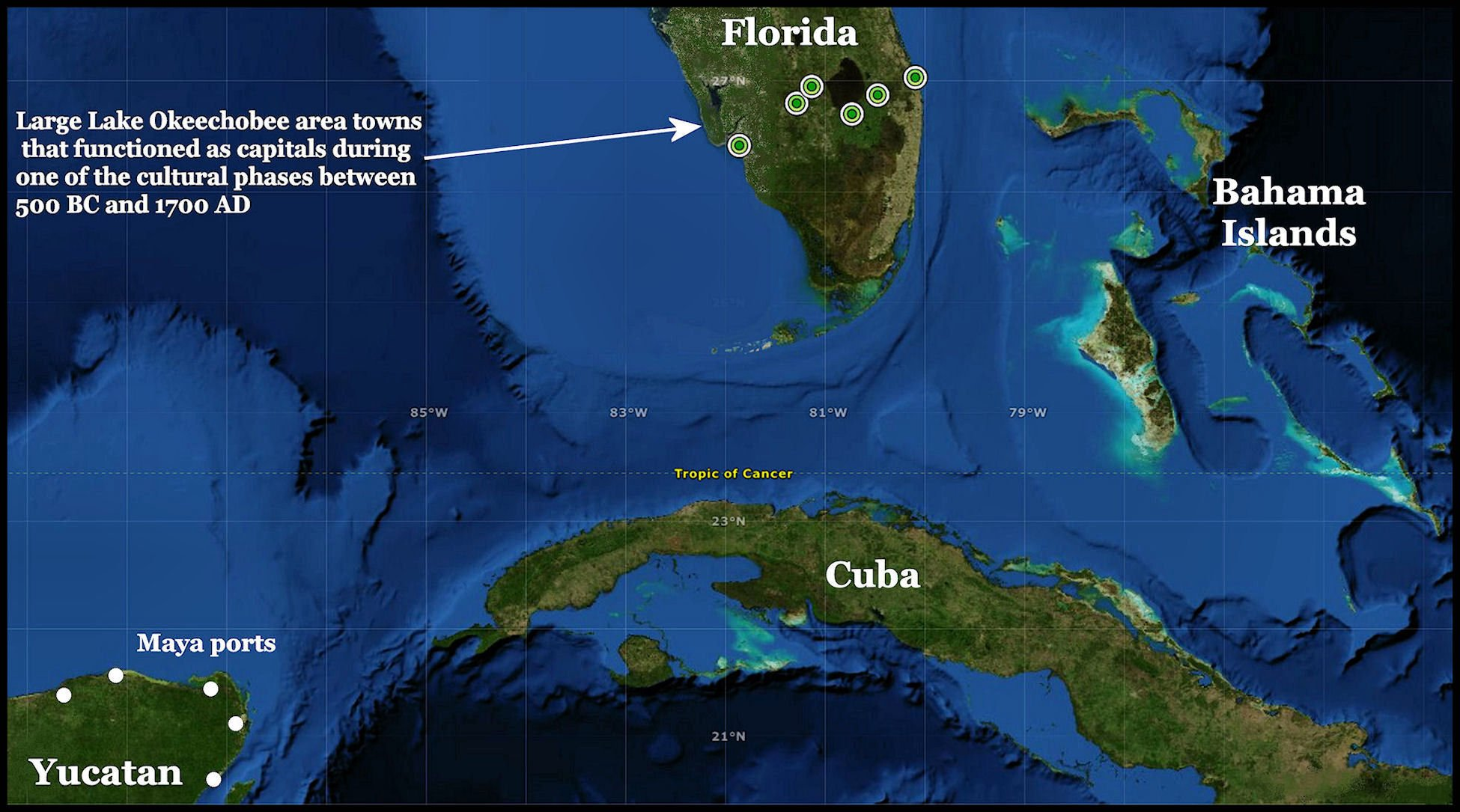 South Florida Satellite Map Access Genealogy