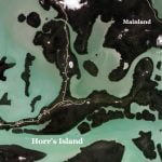 A satellite view of Horr's Island
