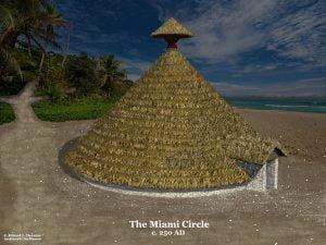 Vector image of the Miami Circle