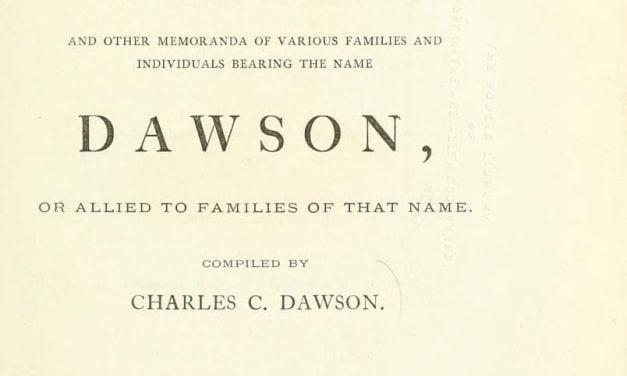 Dawson Family Genealogy