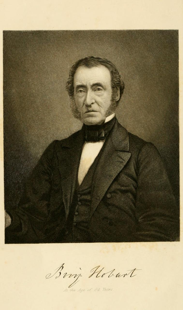 Benjamin Hobart at the age of 84 years