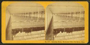 Spinning room, mechanics mill, Fall River, Mass.