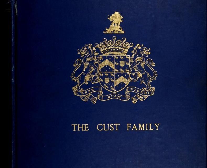 Genealogy of the Cust Family