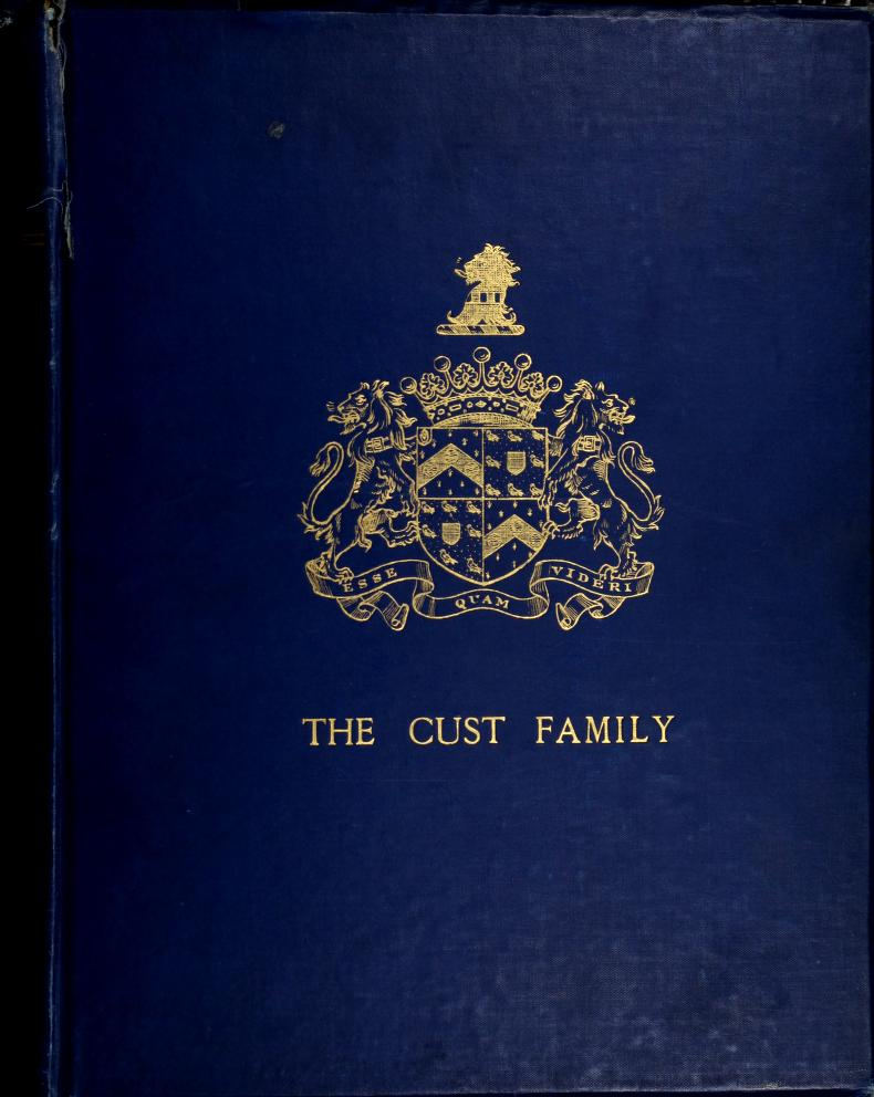 The Cust family crest of arms