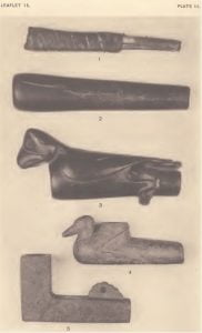 Plate III. American Indian Tobacco Pipes