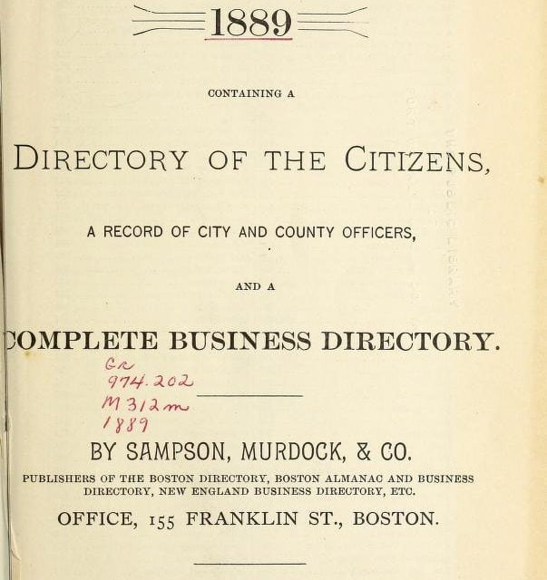 Manchester New Hampshire Directories 1840-1965