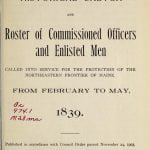 Muster Rolls for the Aroostook War