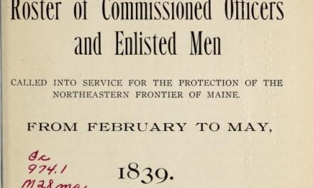 Muster Rolls for the Aroostook War