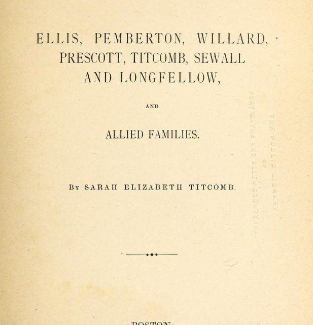 Robertson Genealogy of Bluehill, Maine