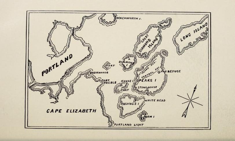Map of Peaks Island Maine