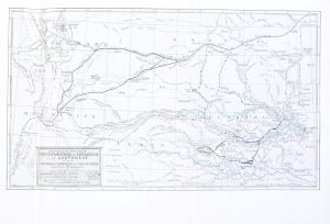 Map showing routes of Early Explorations and Expeditions in the Southwest