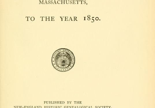 Free Massachusetts Town Vital Records