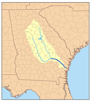 Geography of the Ocmulgee-Altamaha River Basin