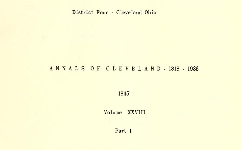WPA Annals of Cleveland, 1818-1937
