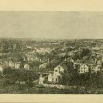 Birds eye view of Lowell Massachusetts