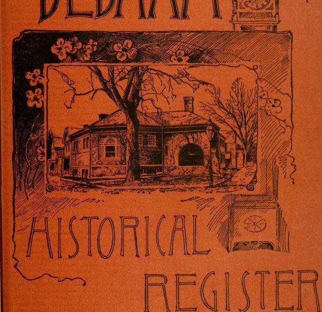 Dedham Massachusetts Historical Society Register 1890-1903