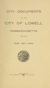 Lowell City Documents