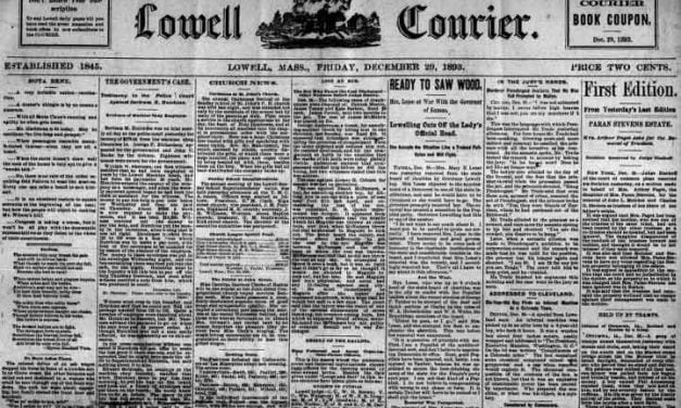 Lowell Massachusetts Newspaper Archives 1837-1893